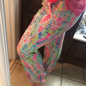 Lilly Pulitzer catch the wave linen pants